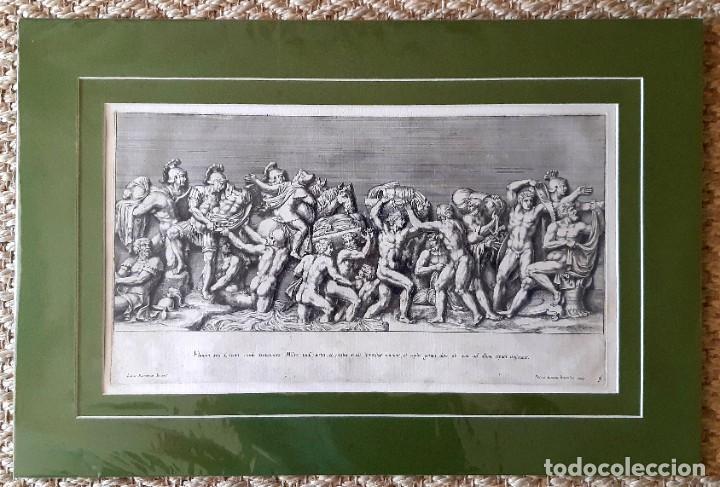 Arte: 2 Grabados Italianos del Siglo XVIII. Escenas Clásicas - Foto 10 - 216955708