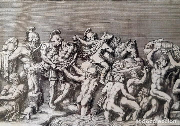Arte: 2 Grabados Italianos del Siglo XVIII. Escenas Clásicas - Foto 12 - 216955708