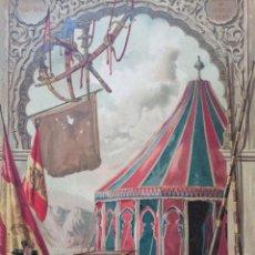 Arte: GRABADO RECUERDO DE LA GUERRA DE ÁFRICA, ORIGINAL, 1883, BARCELONA, MAGIN PUJADAS.. Lote 217260542