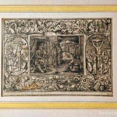 Arte: MARAVILLOSO GRABADO ORIGINAL DEL SIGLO XVI, CIRCA 1580-1590, ESCENA BÍBLICA, GRAN CALIDAD. Lote 217310430