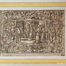 Arte: MARAVILLOSO GRABADO ORIGINAL DEL SIGLO XVI, CIRCA 1580-1590, ESCENA BÍBLICA, GRAN CALIDAD. Lote 275857998