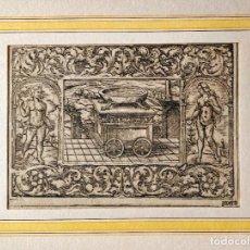 Arte: MARAVILLOSO GRABADO ORIGINAL DEL SIGLO XVI, CIRCA 1580-1590, ESCENA BÍBLICA, GRAN CALIDAD. Lote 217310765