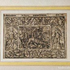 Arte: MARAVILLOSO GRABADO ORIGINAL DEL SIGLO XVI, CIRCA 1580-1590, ESCENA BÍBLICA, GRAN CALIDAD. Lote 217311045