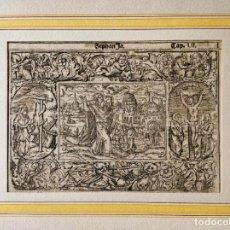 Arte: MARAVILLOSO GRABADO ORIGINAL DEL SIGLO XVI, CIRCA 1580-1590, ESCENA BÍBLICA, GRAN CALIDAD. Lote 217311130
