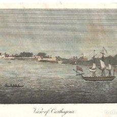 Arte: GRABADO DE 1832 DE CARTAGENA, MURCIA. Lote 217374101
