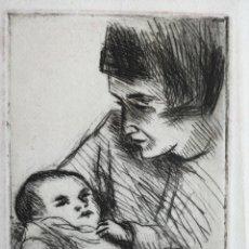 Arte: SIMÓ BUSOM GRABADO 25 X 19 CM. FIRMADO Y FECHADO A LÁPIZ, 1973. MATERNIDAD. Lote 217541458