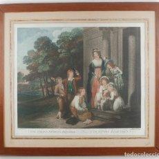 Arte: THE STRAY'D FAVORITE RESTORED _ 1789. Lote 217550688