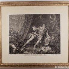Arte: MR. GARRICK IN THE CHARACTER OF RICHARD THE 3D. SHAKESPEARE ACT 5 / SCENE 7_ HOGART_ GRIGNION_1746. Lote 217559315