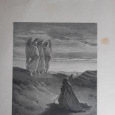 Arte: LITOGRAFÍA DE DORÉ , ANGELES DE 1883 , SIGLO XIX. LEER DESCRIPCIÓN ANTES DE PUJAR.. Lote 229519820