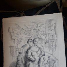 Arte: ANTIGUO GRABADO DE LUIS QUINTANILLA ISASI, FIRMADO POR EL AUTOR Y NUMERADO A LÁPIZ. Lote 217811235