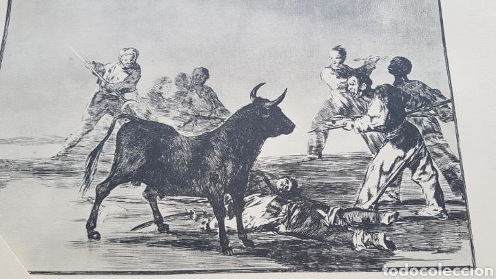 Arte: LA TAUROMAQUIA DE GOYA , 40 LAMINAS DE 34 x 49 CM. AÑOS 70 ENCUADERNACION EN PIEL. - Foto 2 - 217906018