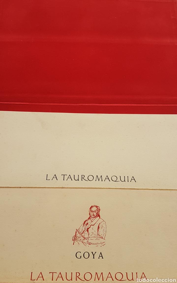 Arte: LA TAUROMAQUIA DE GOYA , 40 LAMINAS DE 34 x 49 CM. AÑOS 70 ENCUADERNACION EN PIEL. - Foto 3 - 217906018
