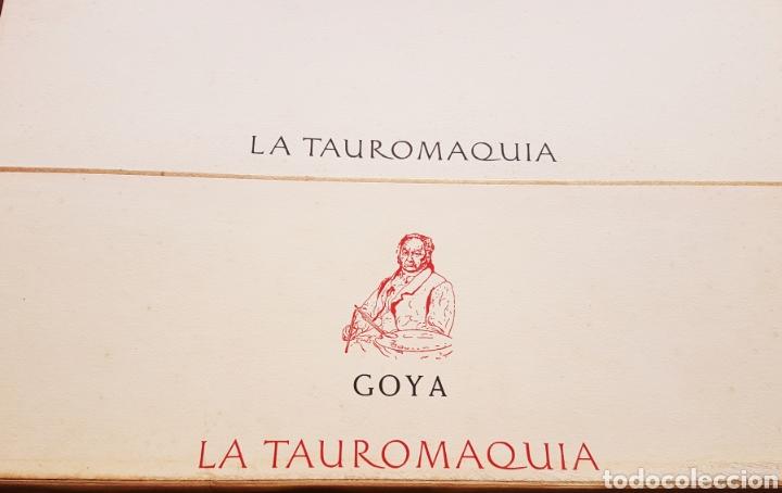 Arte: LA TAUROMAQUIA DE GOYA , 40 LAMINAS DE 34 x 49 CM. AÑOS 70 ENCUADERNACION EN PIEL. - Foto 4 - 217906018