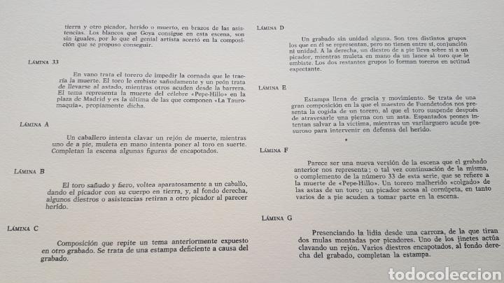 Arte: LA TAUROMAQUIA DE GOYA , 40 LAMINAS DE 34 x 49 CM. AÑOS 70 ENCUADERNACION EN PIEL. - Foto 5 - 217906018