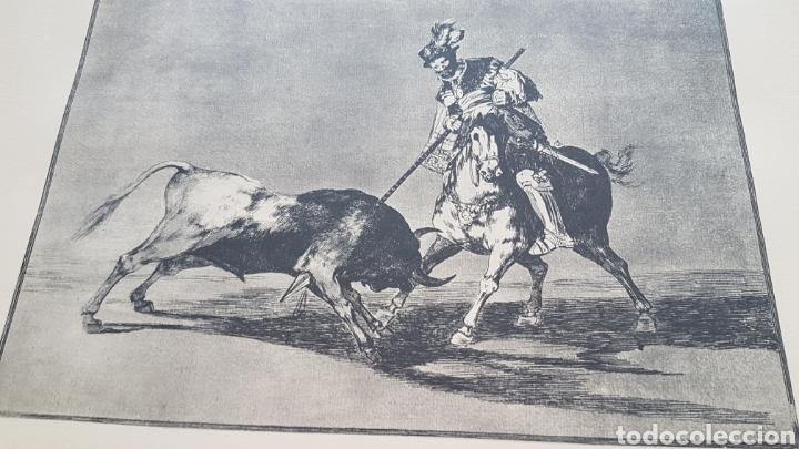 Arte: LA TAUROMAQUIA DE GOYA , 40 LAMINAS DE 34 x 49 CM. AÑOS 70 ENCUADERNACION EN PIEL. - Foto 8 - 217906018