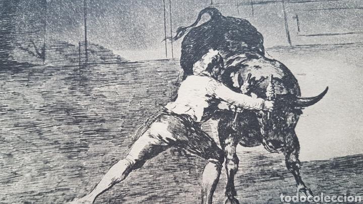 Arte: LA TAUROMAQUIA DE GOYA , 40 LAMINAS DE 34 x 49 CM. AÑOS 70 ENCUADERNACION EN PIEL. - Foto 10 - 217906018