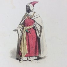 Arte: GRABADO COLOR SR. DE LA CORTE ETHIOPE. Lote 218002487