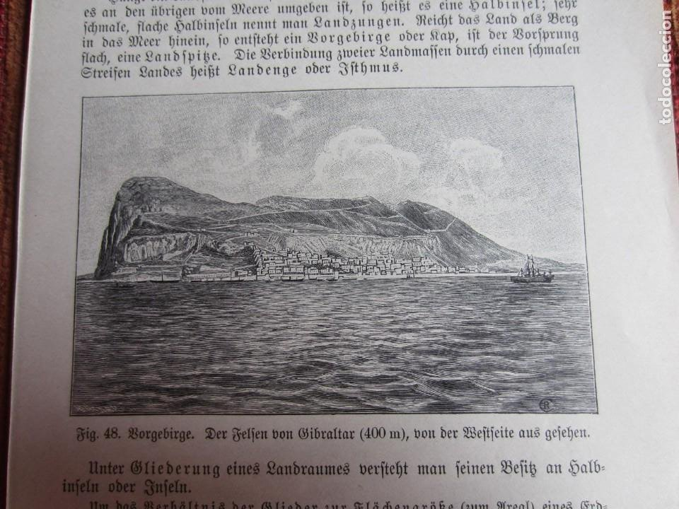 Arte: 1890-GRABADO ORIGINAL. VISTA DE GIBRALTAR - Foto 2 - 218194003