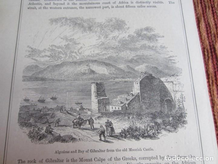 Arte: 1888-GRABADO ORIGINAL. ALGECIRAS Y GIBRALTAR - Foto 2 - 218197715