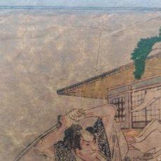 Arte: 3 UKIYOE DE CHUSHINGURA LOS LEALES RONIN. NOBUKAZU 1895. Lote 218207138