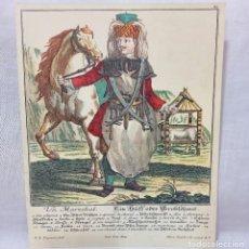 Arte: GRABADO COLOREADO A MANO DEL SIGLO XVIII FDO. MARTIN ENGELBRECHT EXCUD. A.V (1684-1756). Lote 218476891