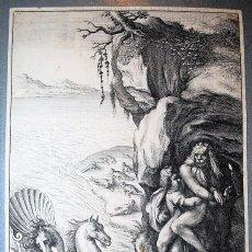 Arte: ARISTAEUS AND PROTEUS. WENCESLAUS HOLLAR (1607 – 1677) MITOLOGÍA MYTHOLOGY. Lote 218486251