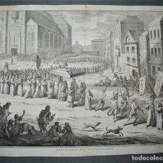 Arte: PROCESSION DES DISCIPLINANS. PIETER TANJÉ (1706 BOLSWARD - 1761 AMSTERDAM) INQUISICIÓN ESPAÑOLA.. Lote 218514298