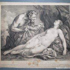 Arte: JUPITER ET ANTHIOPE. ÉTIENNE FESSARD (1714 - 1774). MITOLOGÍA. Lote 218519996