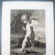 Arte: SILENTIUM ET TENEBRAS AMOR IMPROBUS AD FACINUS QUAERIT. QUERUBÍN. CUPIDO. MITOLOGÍA.. Lote 218523166