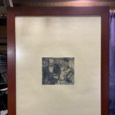Arte: GRABADO PLANCHA PERSONAJES SIN FIRMA 84,5X61CMS. Lote 218525467