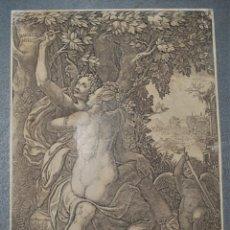 Arte: ANGELIQUE AND MEDOR. ANGÉLICA Y MEDORO. GIORGIO GHISI (1512 / 1520-1582) MITOLOGÍA. Lote 218527130