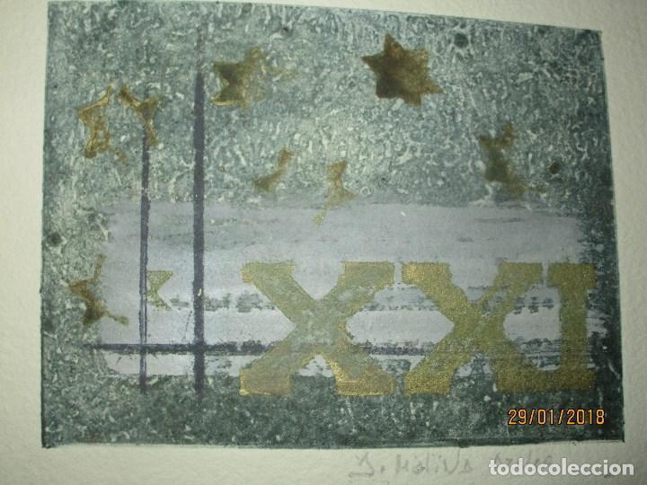 Arte: EXCELENTE OBRA DE ARTE antiguo grabado fin de siglo MANUSCRITO A LAPIZ MOLINA AZNAR firmado - Foto 2 - 218550987