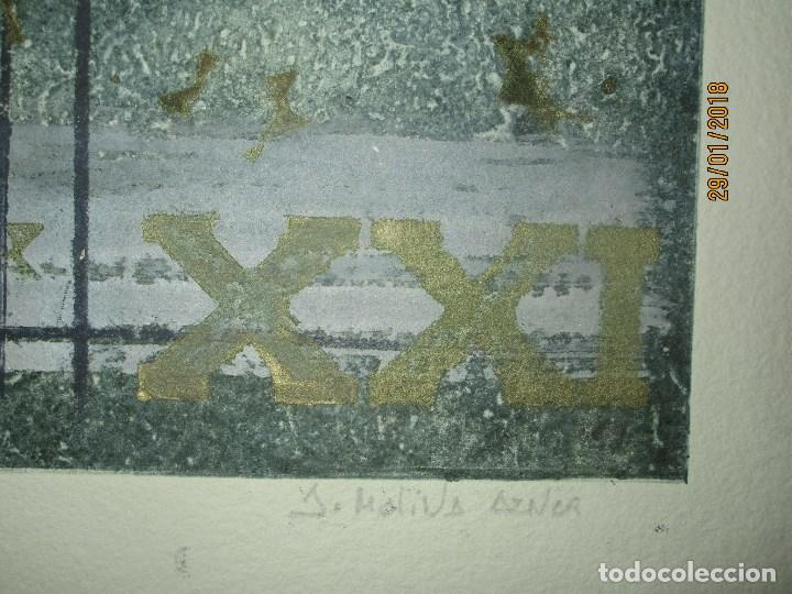 Arte: EXCELENTE OBRA DE ARTE antiguo grabado fin de siglo MANUSCRITO A LAPIZ MOLINA AZNAR firmado - Foto 4 - 218550987