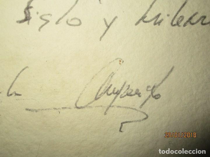 Arte: EXCELENTE OBRA DE ARTE antiguo grabado fin de siglo MANUSCRITO A LAPIZ MOLINA AZNAR firmado - Foto 5 - 218550987