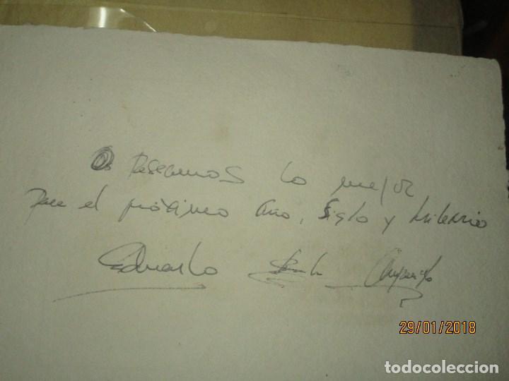 Arte: EXCELENTE OBRA DE ARTE antiguo grabado fin de siglo MANUSCRITO A LAPIZ MOLINA AZNAR firmado - Foto 6 - 218550987