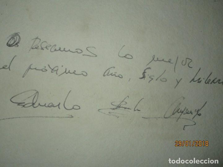 Arte: EXCELENTE OBRA DE ARTE antiguo grabado fin de siglo MANUSCRITO A LAPIZ MOLINA AZNAR firmado - Foto 7 - 218550987