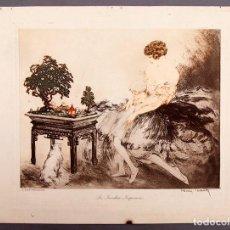 Arte: LOUIS ICART - LE JARDIN JAPONAIS. Lote 218599801