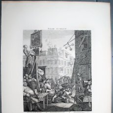 Arte: WILLIAM HOGARTH BEER STREET - GIN LANE. Lote 218616493