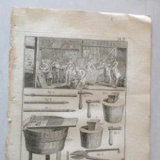 Arte: CALDERA DE PLANEADOR - CHAUDRONNIER PLANEUR - DIDEROT AÑO DE 1751. Lote 218636007