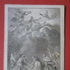 Arte: PEQUEÑO GRABADO CON ESCENA DE LA ASUNCIÓN DE LA VIRGEN .SIGLO XIX. LEER DESCRIPCIÓN ANTES DE PUJAR.. Lote 218715095