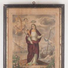 Arte: STA. MADRONA VIRGEN Y MARTIR, HIJA Y PATRONA DE BARCELONA - A. PASCUAL Y ABAD EDITOR VALENCIA. Lote 218720955