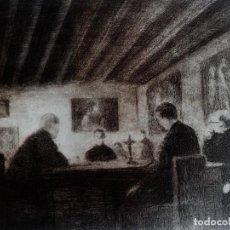 """Arte: RICARDO BAROJA. GRABADO. """"EL EXAMEN"""". Lote 218726196"""
