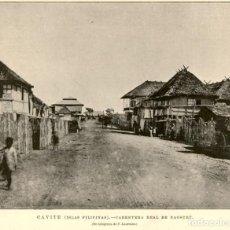 Arte: 1896 - CAVITE - ISLAS FILIPINAS - CARRETERA REAL DE NAGSUBU - LA ILUSTRACIÓN ESPAÑOLA. Lote 218780631