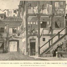 Arte: 1896 - MADRID - DECORACIÓN LA REVOLTOSA - TEATRO APOLO - LA ILUSTRACIÓN ESPAÑOLA. Lote 218781585