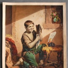 Arte: CONTENTEMENT PASSE RICHESSE. TOILETTE DU PETIT SAVOYARD. PINTOR HORNUNG. GRABADOR MARIN LAVIGNE.. Lote 49896012