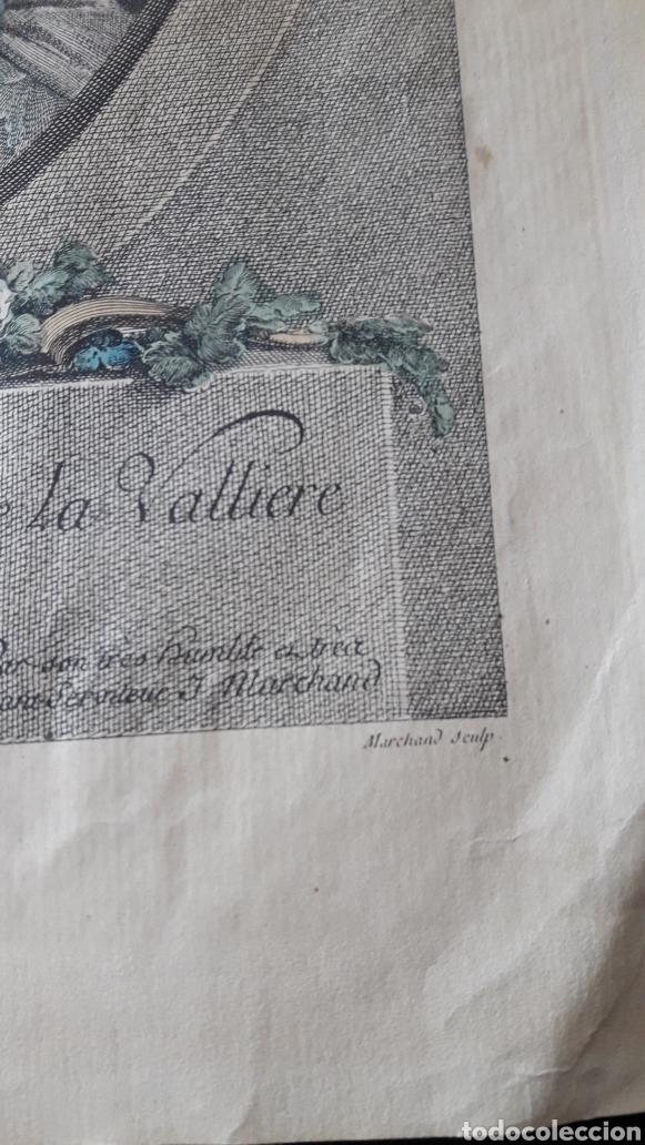 Arte: Antiguo grabado romántico, por Marchand - Foto 2 - 218790333