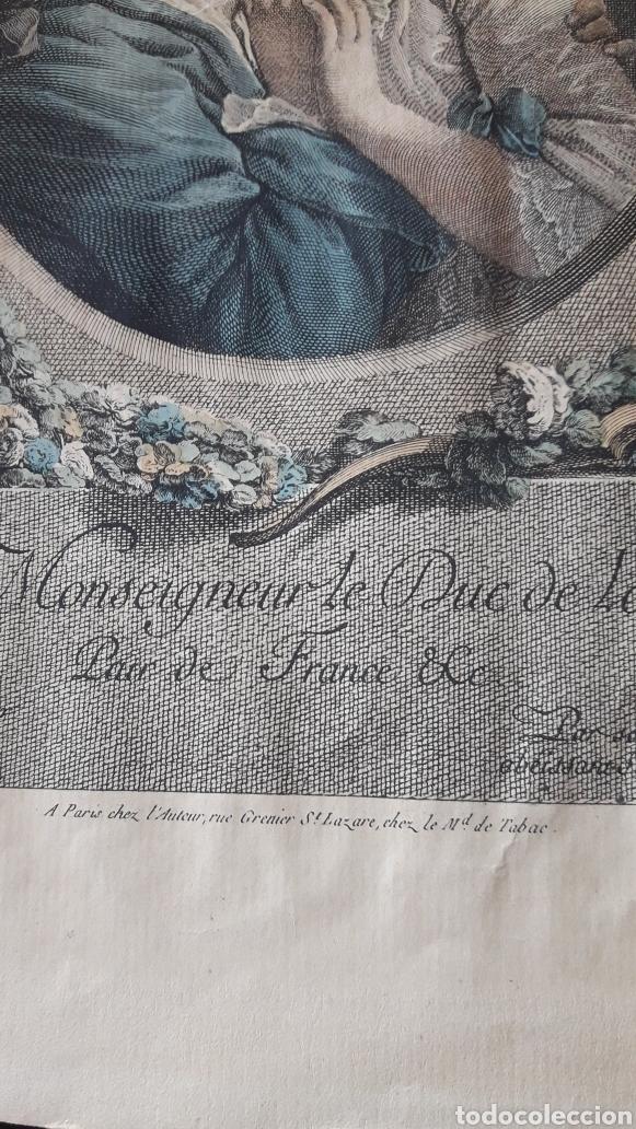 Arte: Antiguo grabado romántico, por Marchand - Foto 3 - 218790333