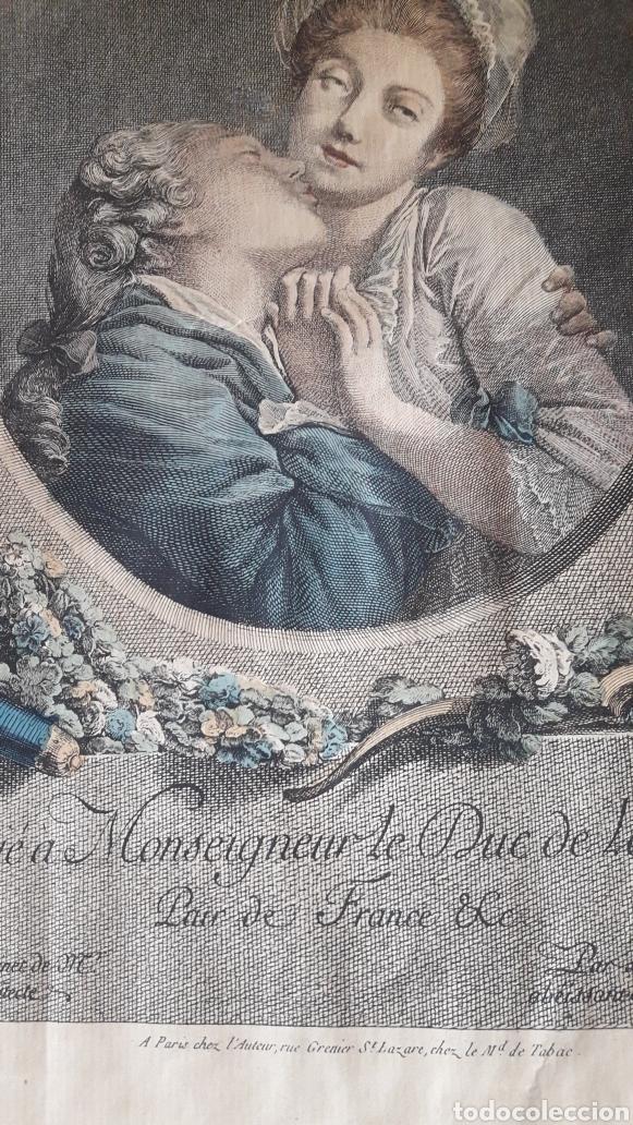 Arte: Antiguo grabado romántico, por Marchand - Foto 5 - 218790333