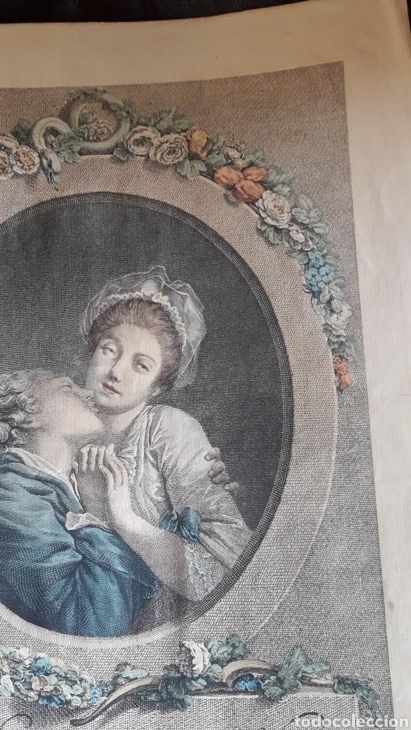 Arte: Antiguo grabado romántico, por Marchand - Foto 7 - 218790333