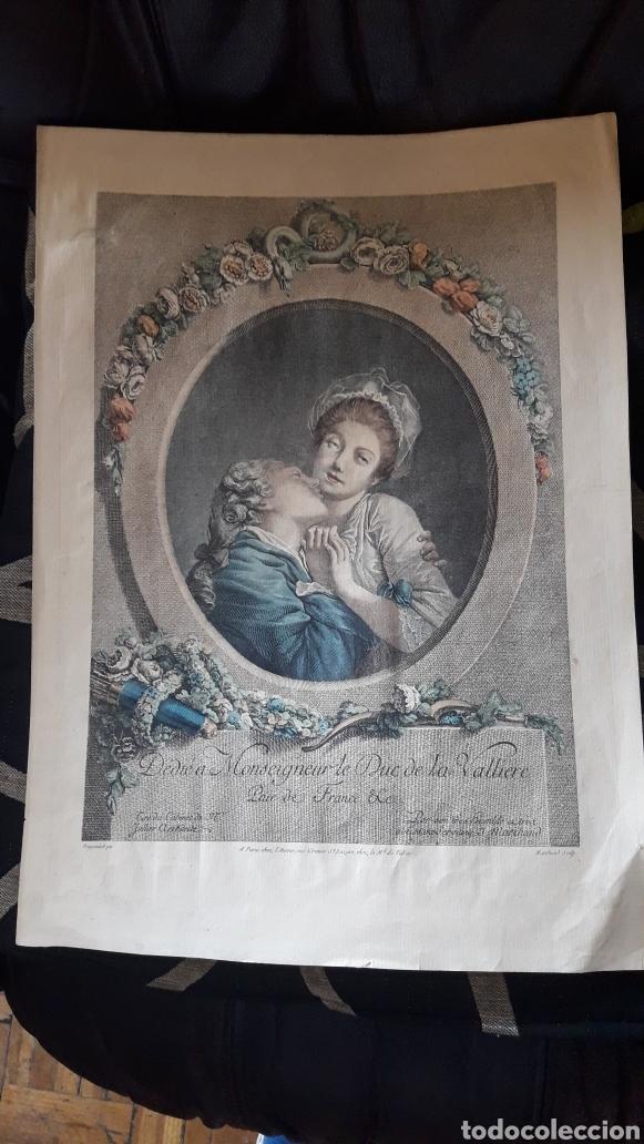 ANTIGUO GRABADO ROMÁNTICO, POR MARCHAND (Arte - Grabados - Antiguos hasta el siglo XVIII)